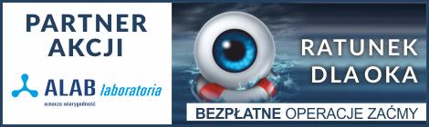 """Laboratoria ALAB wspiera akcję """"Ratunek dla oka – bezpłatne operacje zaćmy"""""""